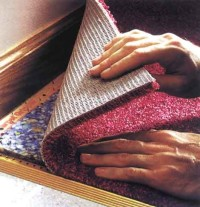 Сухой настил коврового