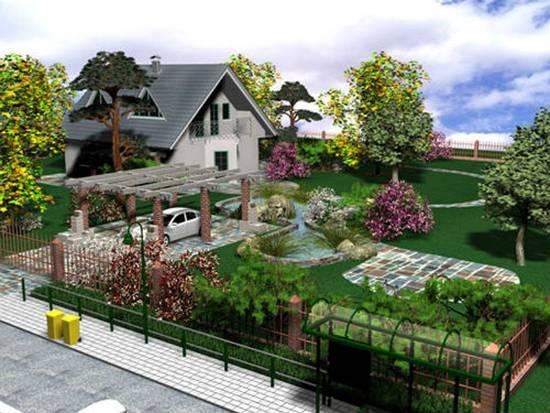 Загородный участок и дом